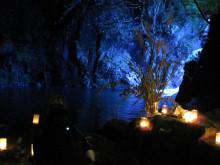 なばり四季のブログ-お月見団子と滝